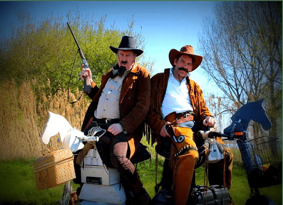 Van Bill en Jack Russel cowboys